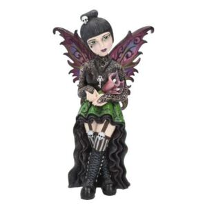Statueta zana gotica Little Shadows Orchid 16 cm
