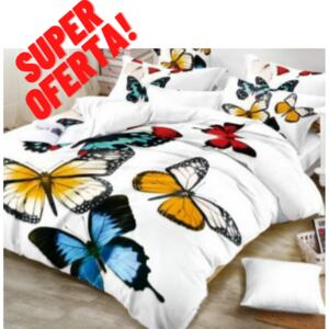 Lenjerie pat 2 persoane, Cocolino, Butterfly
