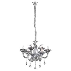 Globo OLENNA 64129-6 Candelabre, Lustre crom 6 x E14 max. 40W IP20
