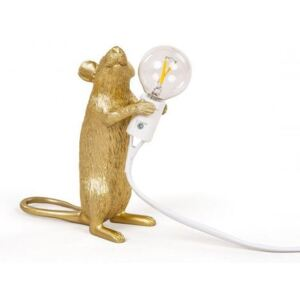 Lampa aurie 6×13 cm Mouse Gold Step Seletti
