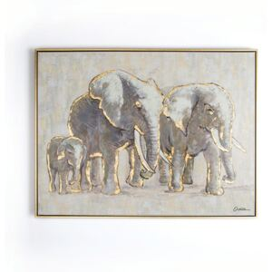 Tablou pictat manual Graham & Brown Elephant Family, 80 x 60 cm