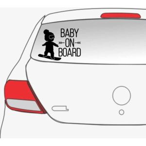 Sticker auto Cool Baby on Board