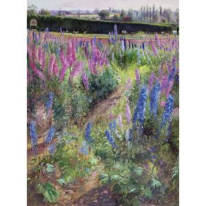 Delphiniums and Hoers, 1991 Reproducere, Timothy Easton