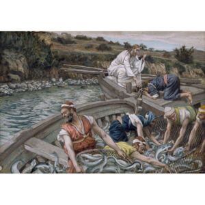 The First Miraculous Draught of Fish, illustration for 'The Life of Christ', c.1886-94 Reproducere, James Jacques Joseph Tissot