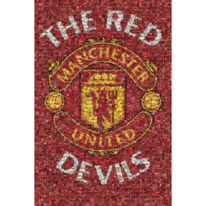 Manchester United - mosaic Poster, (61 x 91,5 cm)