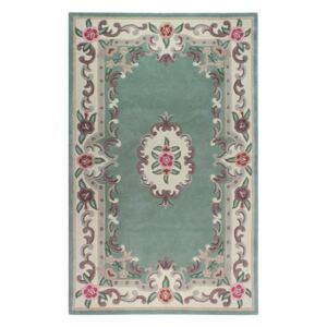 Covor din lână Flair Rugs Aubusson Green, 75 x 150 cm