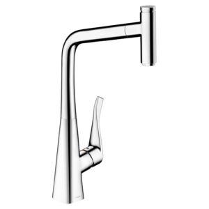 Baterie bucatarie Hansgrohe Metris Select 320, dus extractibil