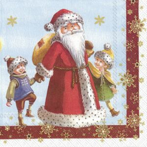 Set servetele hartie Villeroy & Boch Winter Specials Toys Napkin Santa Claus Children 25x25cm