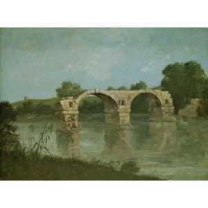 The Bridge at Ambrussum Reproducere, Gustave Courbet