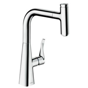 Baterie bucatarie Hansgrohe M7115-H240, ComfortZone 240, dus extractibi, crom