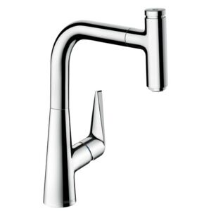 Baterie bucatarie Hansgrohe M5115-H220, ComfortZone 220, dus extractibi, crom