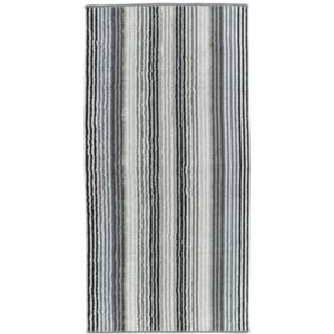 Prosop baie Cawo Unique Stripes 70x140 cm antracit