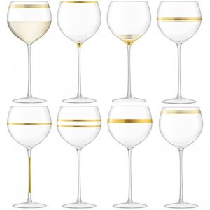 Set 8 pahare vin LSA International Deco Gold 525ml