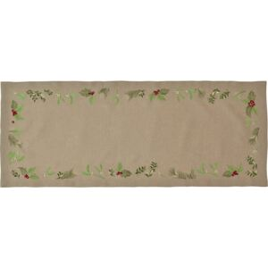 Napron Sander Embroidery X-Mas Leaves 20x80cm, 70 Atmosphere