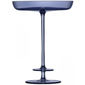 Pahar sampanie LSA International Champagne Theatre Pedestal Dish h15.5cm Tier/Midnight Blue