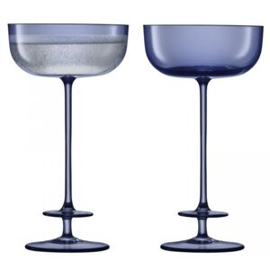 Set 2 pahare sampanie LSA International Champagne Theatre Saucer 210ml Tier/Midnight Blue
