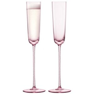 Set 2 pahare sampanie LSA InternationalChampagne Theatre Flute 120ml Braid/Dawn Pink