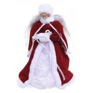 Varf de brad LED Red White Angel 30 cm