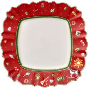 Farfurie plata Villeroy & Boch Toy's Delight Red 28.5x28.5cm