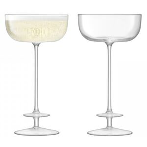 Set 2 pahare LSA International Champagne Theatre Saucer 210ml Tier/Clear