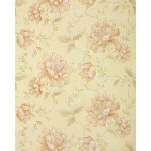 Tapet bej floral in relief 748-31