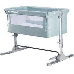 Patut Bebe Co-Sleeper Mini Cu Sistem De Leganare, Verde, Bebe Royal AP802