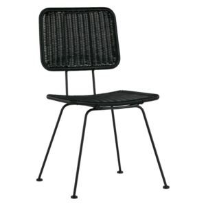 Scaun retro negru Hilde Dining Chair Black