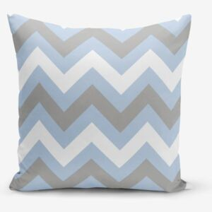 Față de pernă Minimalist Cushion Covers Zigzag Blue, 45 x 45 cm