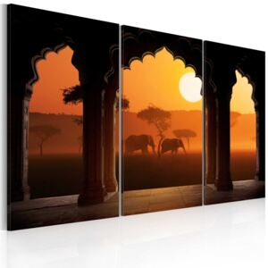 Tablou Bimago - The tranquillity of Africa - triptych 60x40 cm