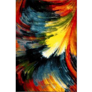 COVOR MODEL ABSTRACT, 80X150 CM, MULTICOLOR, GROSIME 9,5 MM, NODURI 273600