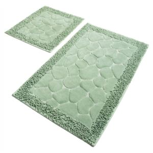 Set 2 covorase baie bumbac, Alessia Home, Stone - Mint