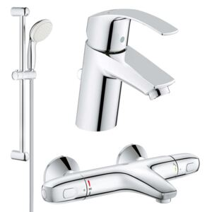 Set complet baterii baie cada termostat Grohe Grohtherm 1000 (33265002,34155003,27853001)-Gro127