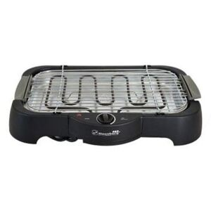 Gratar Electric cu Grill Barbeque Big Hausberg, 50x36 cm, temperatură reglabila,2000 W
