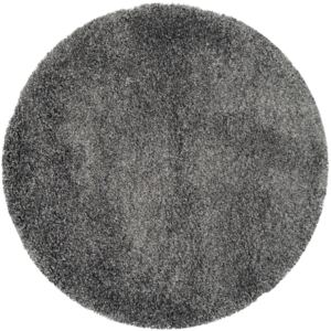 Covor Unicolor Crosby, Rotund, Gri, 200x200