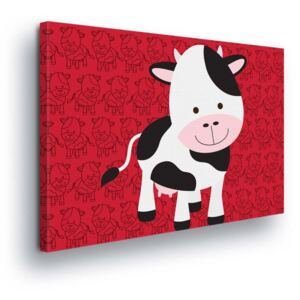 GLIX Tablou - Cartoon Cow 80x60 cm
