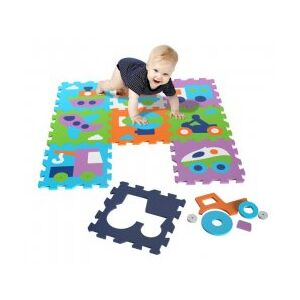 Covor Puzzle din Spuma Happy Children 9 piese - Vehicles