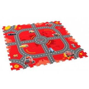 Covor Puzzle din Spuma Happy Children 9 piese - Modular Race