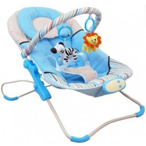 Leagan Muzical cu Vibratii Magic Happy Baby - Hot Blue