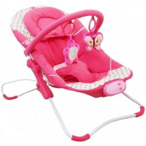 Leagan Muzical cu Vibratii Magic Happy Baby - Hot Pink