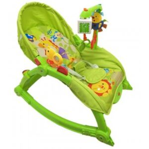 Balansoar cu Vibratii 2 in 1 Happy Baby - Crazy Jungle Trip