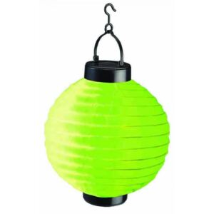 Lampion solar LED, diametru 20 cm, verde, Vivo, PE2527