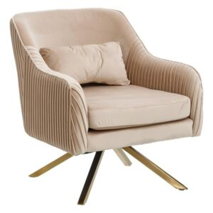 Fotoliu din catifea bej Armchair Velvet Beige | PRIMERA COLLECTION