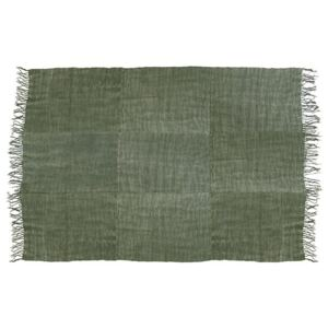 Covor verde din in 230x320 cm Linen Army Green HK Living