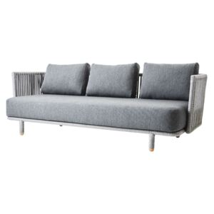 Canapele gradina Cane-line Moments 3 Seater PE Rope SoftTouch Acrylic Fabric Cushions