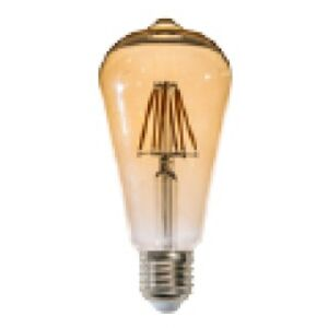 AZzardo E27 6W Decorative LED Golden Glass LL127063