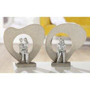 Set 2 figurine COUPLE, rasina, 23x23.5x5.5 cm