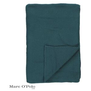 Pled tricotat Marc O´Polo Nordic Sage Green verde 170 cm