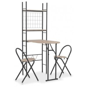 Koohashop Set mobilier bucatarie, suport depozitare, 3 piese, MDF si otel