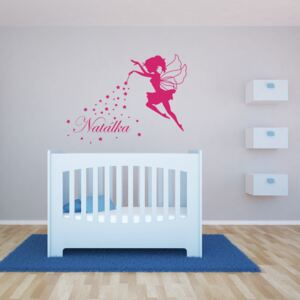 GLIX Magic Fairy - autocolant de perete Roz 90 x 70 cm