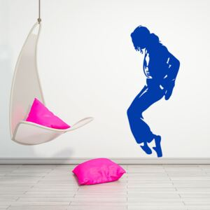 GLIX King of Pop - autocolant de perete Albastru 50 x 120 cm